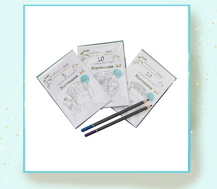 Nottingham Colour-in Pack of Postcards + Postage