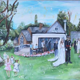 Live Painting Garden Wedding
