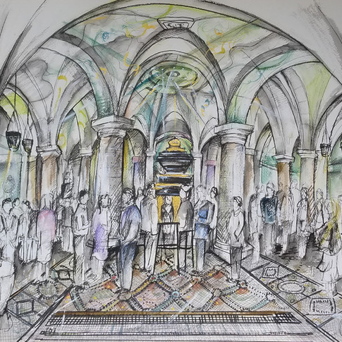Live Drawing at St Paul's Cathedral