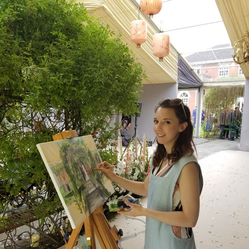 Live Painting at Wedding Event