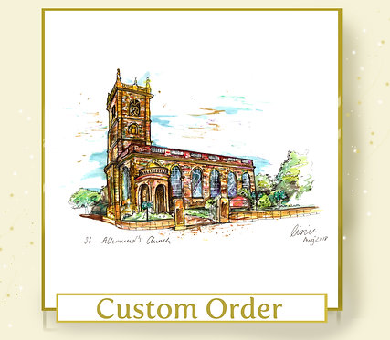 Custom Venue or Home Illustration - A5 Size - Colour