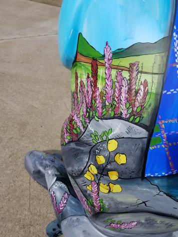 Wallabies Gone Wild Mural Sculpture Painting