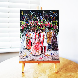 Indian Wedding Painting on Canvas