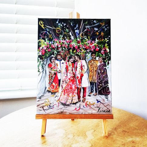 Indian Wedding Ceremony Painting