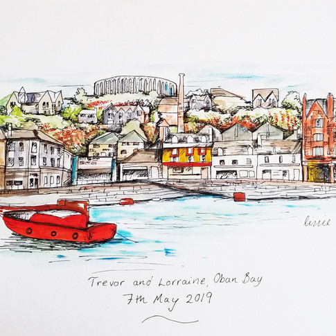 Dock Scene Illustration Gift Idea
