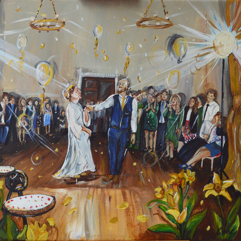 First Dance Painting on Canvas