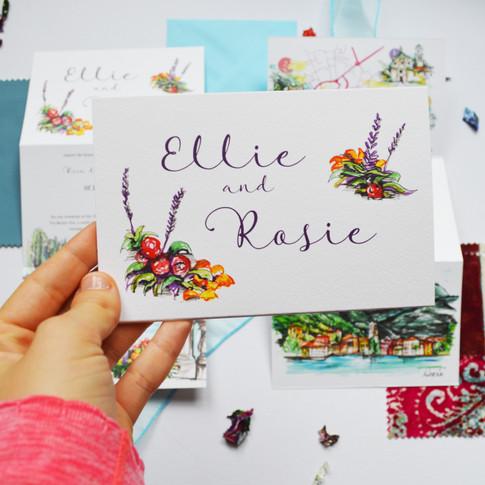 Italy Wedding  Z Fold Stationery Image 1