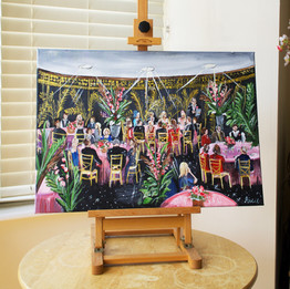 Live Wedding Painting on Canvas