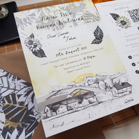 Wedding Stationery Design with bespoke Illustrations