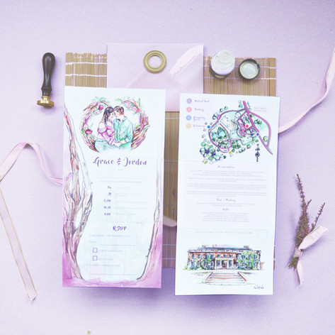 G&J Wedding  Z Fold Stationery Image Pur