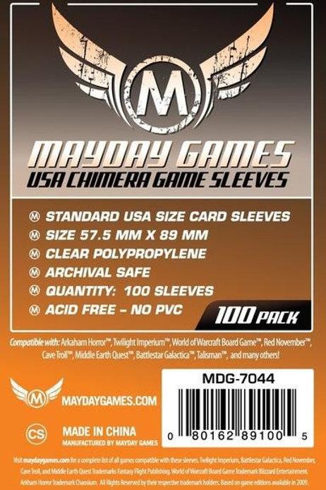 "USAキメラサイズスリーブ 100枚 Mayday USA Chimera Card Sleeves 57.5 X 89 mm""100"""