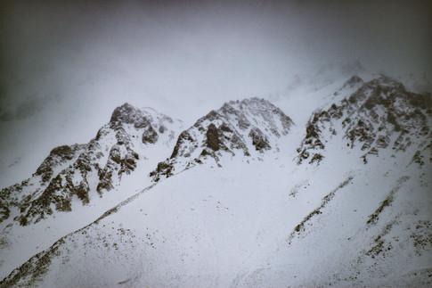 Nieve en los Andes