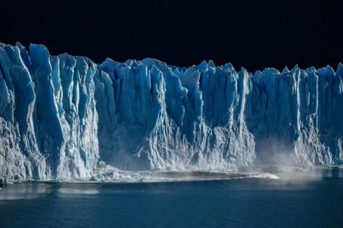 Desprendimiento en el glaciar