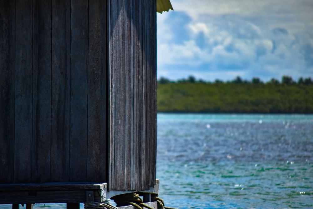 Fotografía de casa flotante