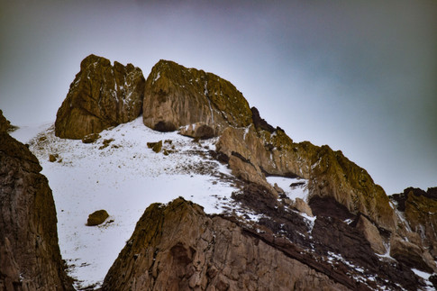 Nieve en Puente del Inca