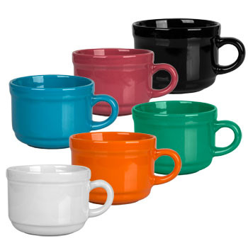 Stoneware Soup Mugs with Handles, 22 oz.