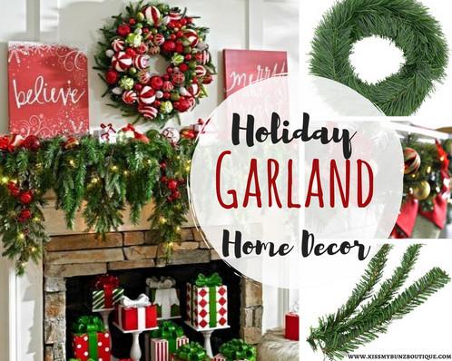 Christmas Home Decor Garland Rope Or Garland Ties