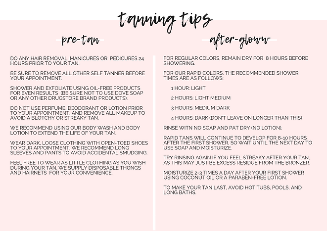 spray tanning tips