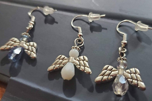 Angel earrings and necklace