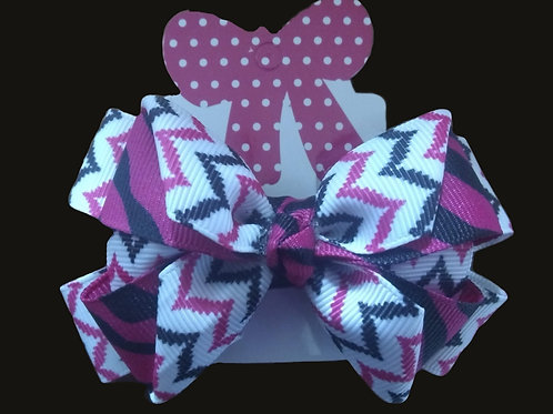 Pinwheel- Pink, white, and black print