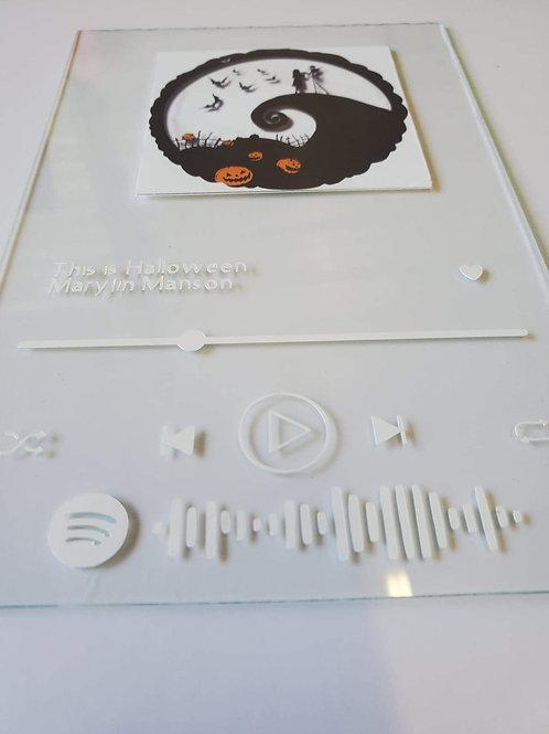 Spotify Glass Art - Frameless