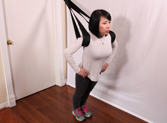 Double calf stretch position