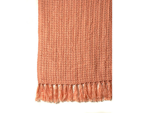 Apricot Throw Lurex Boucle Collection