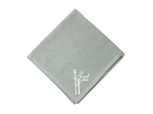 Winter Branch Set of 4 Napkins- Grey