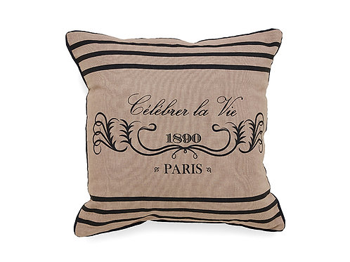 Printed Celebrate Paris Pillow Cover