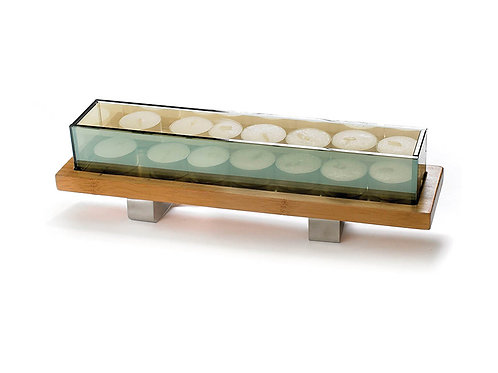 Tealite Tray with Glass