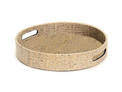 Metallic Cork Tray Round