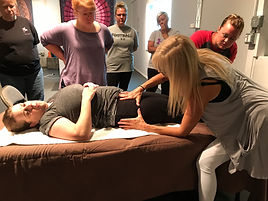 Ann Murley Demonstration At Omaha Massage Continuing Education Workshops