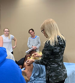 Ann Murley Teaching Omaha Massage Continuing Education Workshop