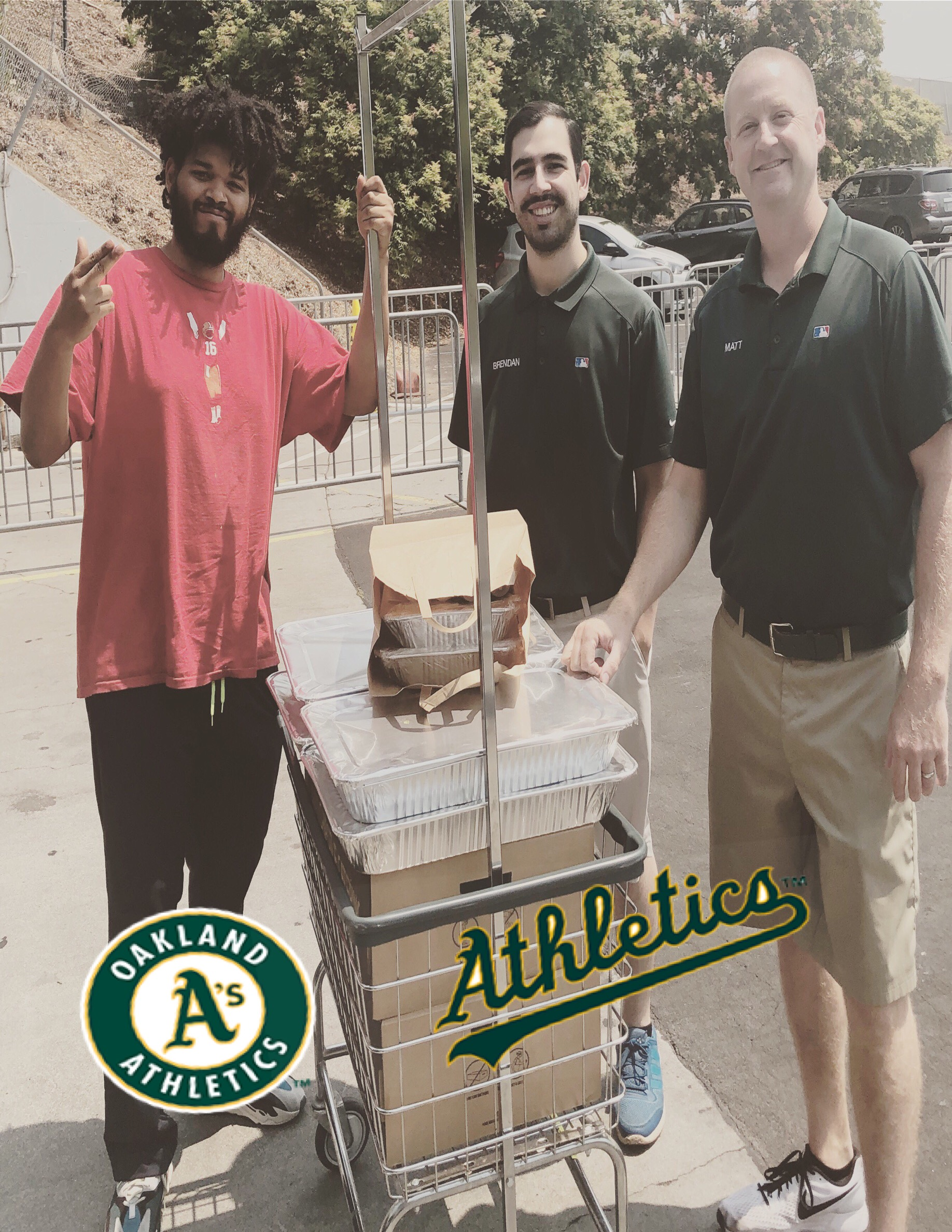 Oakland A's catering
