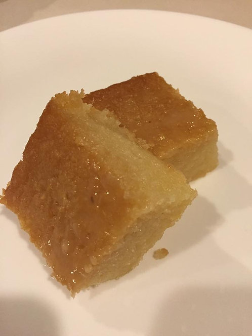 Gluten-Free Malaysian dessert-Kuih Bingka Ubi (Baked Tapioca Cake)