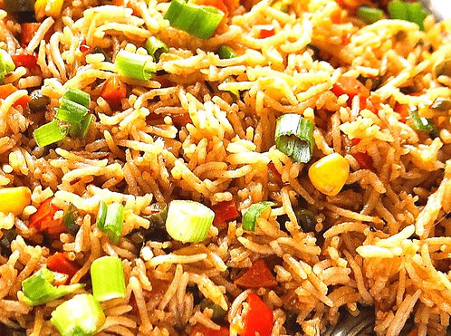 Nasi Goreng (Malaysian Fried Rice, vegetarian)