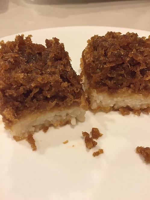 Gluten-Free Malaysian Dessert-Pulut Inti (Glutinous Rice with Sweet Coconut)