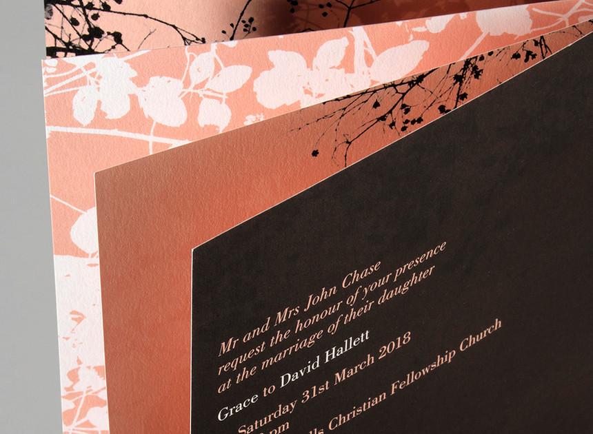 Clovelly Wedding Invitation