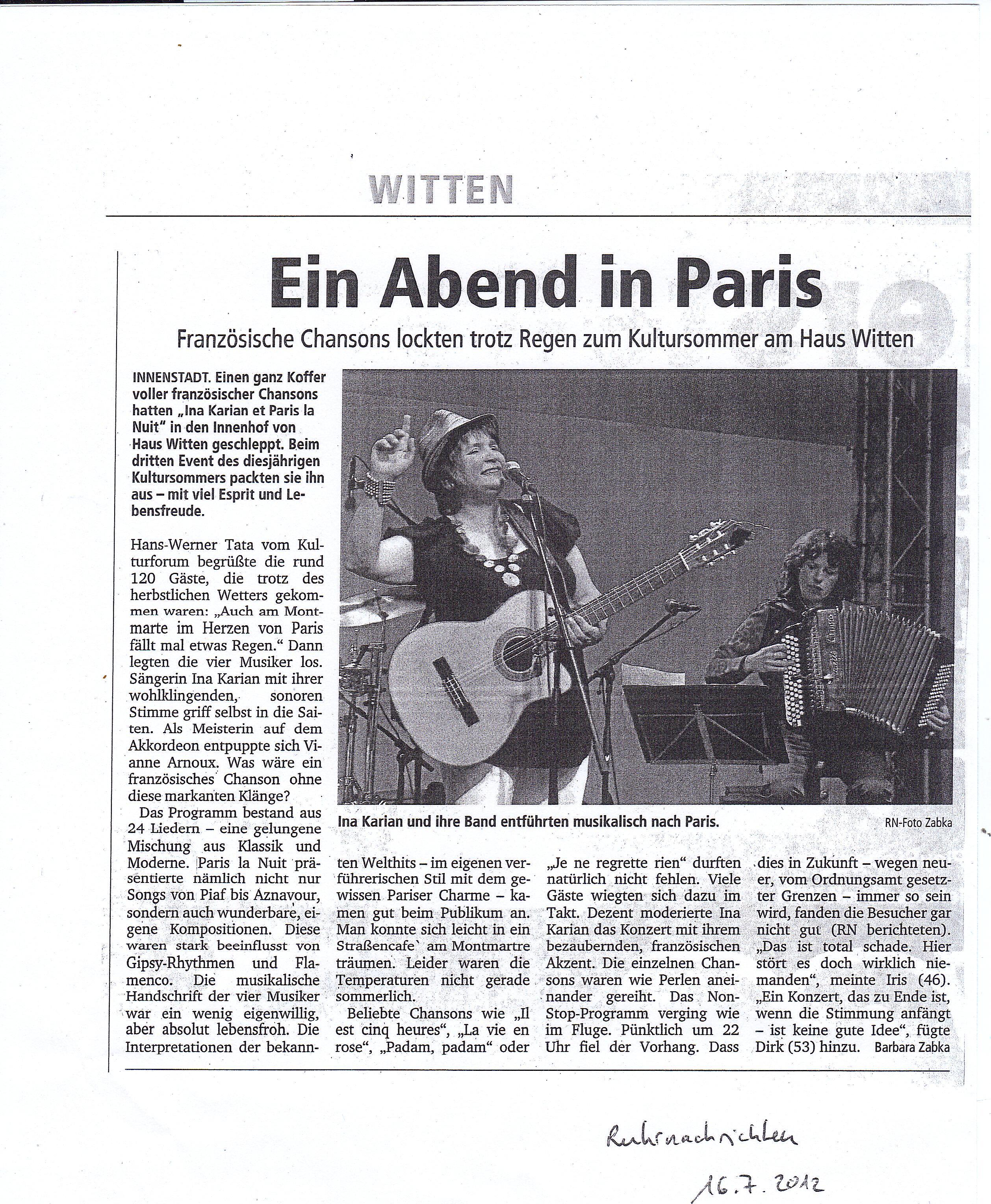 Ruhrnachrichten 7/12