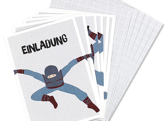 ♡ Einladungsset Ninja von Ava&Yves