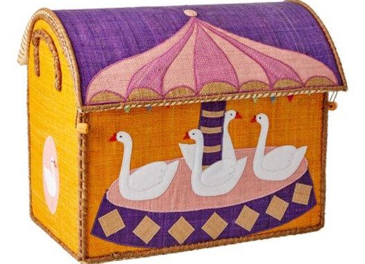♡ Spielzeugkorb Karussell Gänse von Rice
