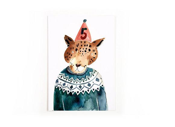 ♡ Postkarte Fünf von Gretas Schwester