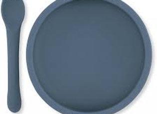 ♡ Teller und Löffel blau von Konges Slojd