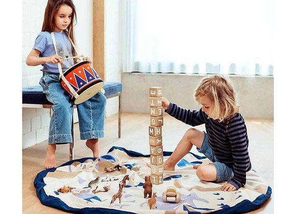 ♡ Spielzeugaufbewahrung und Teppich Zirkus von Play & Go