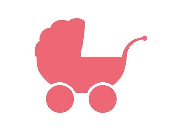 ♡ Postkarte Kinderwagen