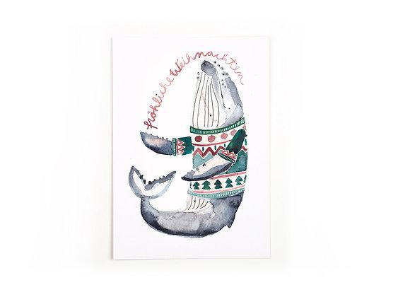 ♡ Postkarte Fröhliche Weihnachten von Gretas Schwester