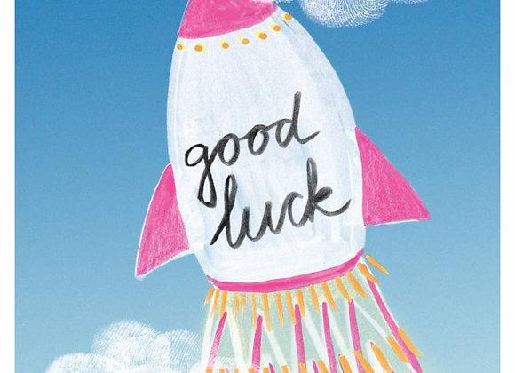 ♡ Postkarte Rakete Good Luck