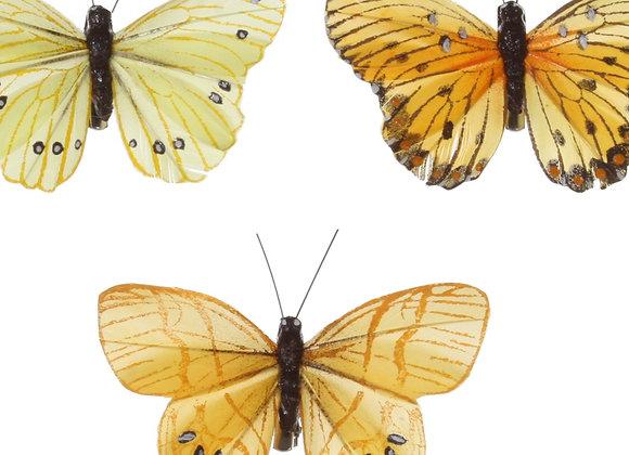 Shishi Schmetterlinge gelb (Set of 3)