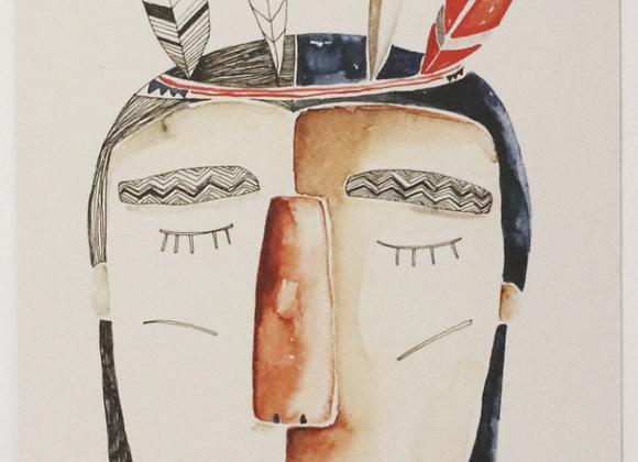 ♡ Postkarte Indianer von Gretas Schwester