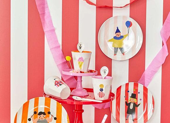 ♡ Geschirrset Zirkus von Rice
